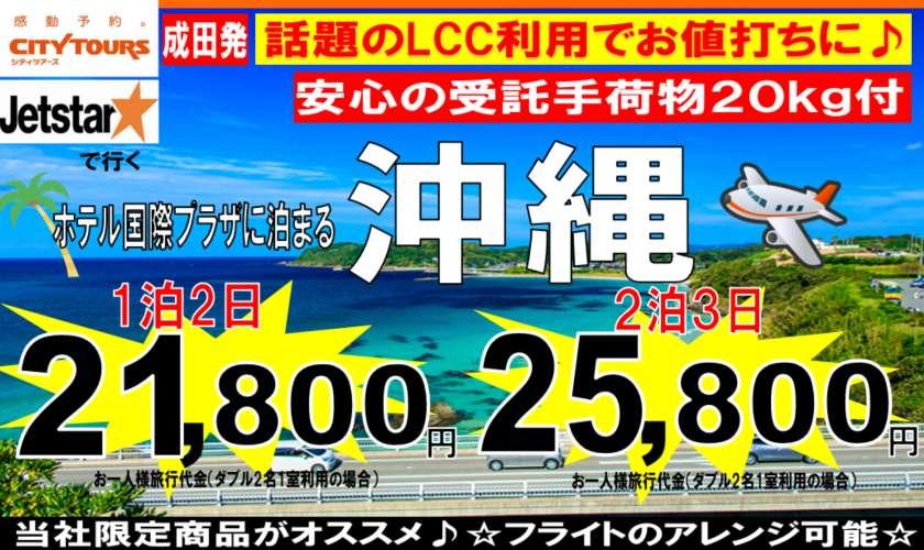成田発 JETSTAR利用ホテル国際プラザ