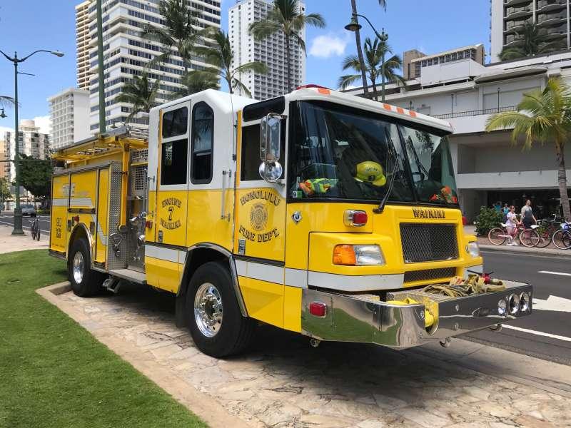 ハワイの消防車
