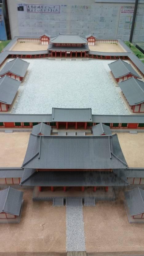 当時の建物、復元模型